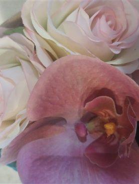 Bloemstuk rozen BLIJVEND