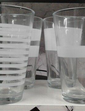 Glazen witte streep 0.325L artikel 800754