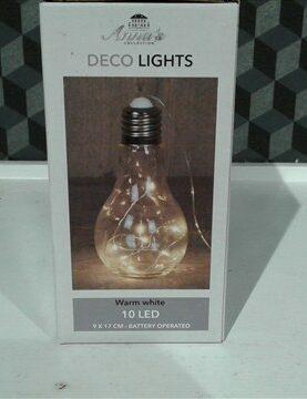 Decoratielichtjes in lamp 10lichtjes