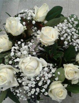 BOEKET 5 : witte rozen